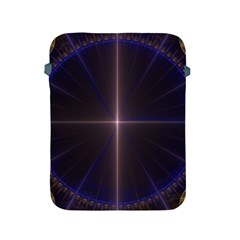 Color Fractal Symmetric Blue Circle Apple Ipad 2/3/4 Protective Soft Cases by Amaryn4rt