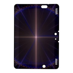 Color Fractal Symmetric Blue Circle Kindle Fire Hdx 8 9  Hardshell Case by Amaryn4rt