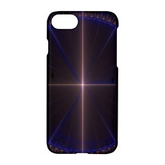 Color Fractal Symmetric Blue Circle Apple Iphone 7 Hardshell Case by Amaryn4rt