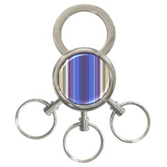 Colorful Stripes Background 3 Ring Key Chains by Amaryn4rt