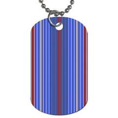 Colorful Stripes Background Dog Tag (two Sides) by Amaryn4rt