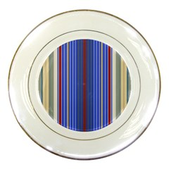 Colorful Stripes Background Porcelain Plates by Amaryn4rt