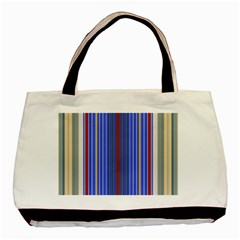 Colorful Stripes Background Basic Tote Bag by Amaryn4rt