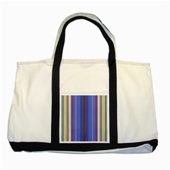 Colorful Stripes Background Two Tone Tote Bag by Amaryn4rt