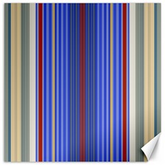 Colorful Stripes Background Canvas 16  X 16   by Amaryn4rt