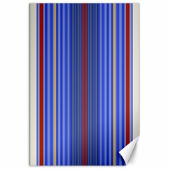 Colorful Stripes Background Canvas 20  X 30   by Amaryn4rt