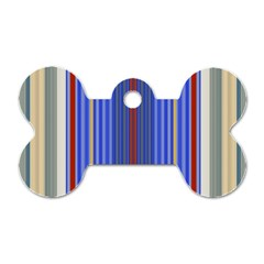 Colorful Stripes Background Dog Tag Bone (two Sides) by Amaryn4rt