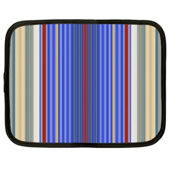 Colorful Stripes Background Netbook Case (large) by Amaryn4rt