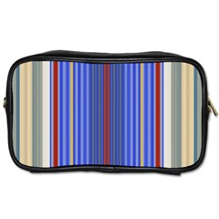 Colorful Stripes Background Toiletries Bags 2 Side by Amaryn4rt