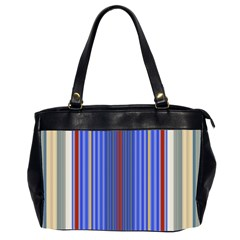 Colorful Stripes Background Office Handbags (2 Sides)  by Amaryn4rt
