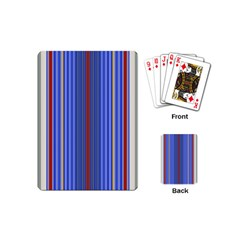 Colorful Stripes Background Playing Cards (mini)  by Amaryn4rt