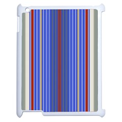 Colorful Stripes Background Apple Ipad 2 Case (white) by Amaryn4rt