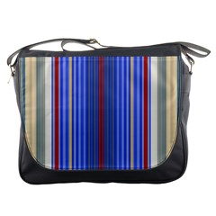 Colorful Stripes Background Messenger Bags by Amaryn4rt
