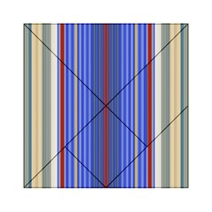 Colorful Stripes Background Acrylic Tangram Puzzle (6  X 6 ) by Amaryn4rt