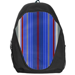 Colorful Stripes Background Backpack Bag by Amaryn4rt