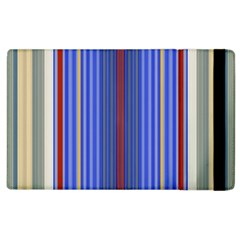 Colorful Stripes Background Apple Ipad 2 Flip Case by Amaryn4rt