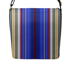 Colorful Stripes Background Flap Messenger Bag (l)  by Amaryn4rt