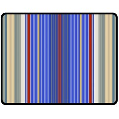 Colorful Stripes Background Double Sided Fleece Blanket (medium)  by Amaryn4rt