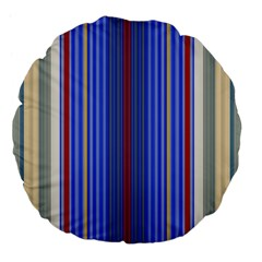 Colorful Stripes Background Large 18  Premium Flano Round Cushions by Amaryn4rt