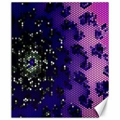 Blue Digital Fractal Canvas 8  X 10  by Amaryn4rt