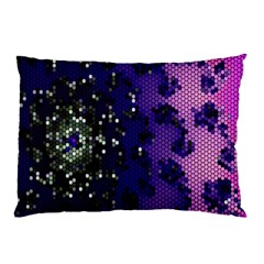 Blue Digital Fractal Pillow Case (two Sides) by Amaryn4rt