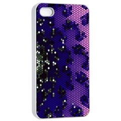Blue Digital Fractal Apple Iphone 4/4s Seamless Case (white) by Amaryn4rt
