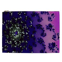 Blue Digital Fractal Cosmetic Bag (xxl)  by Amaryn4rt