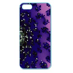 Blue Digital Fractal Apple Seamless Iphone 5 Case (color) by Amaryn4rt