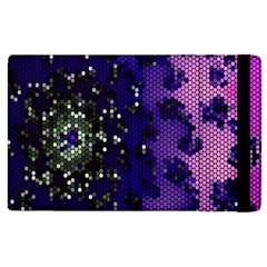 Blue Digital Fractal Apple Ipad 2 Flip Case