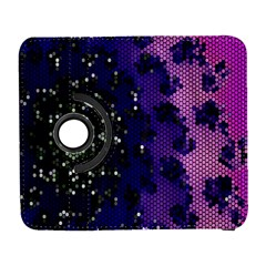 Blue Digital Fractal Galaxy S3 (flip/folio) by Amaryn4rt
