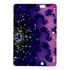Blue Digital Fractal Kindle Fire Hdx 8 9  Hardshell Case by Amaryn4rt