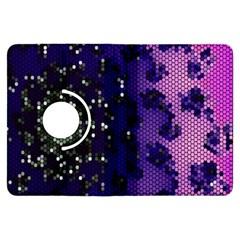 Blue Digital Fractal Kindle Fire Hdx Flip 360 Case by Amaryn4rt