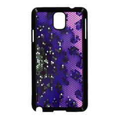 Blue Digital Fractal Samsung Galaxy Note 3 Neo Hardshell Case (black) by Amaryn4rt