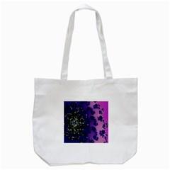 Blue Digital Fractal Tote Bag (white) by Amaryn4rt