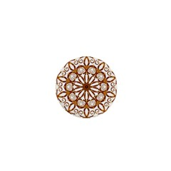 Golden Filigree Flake On White 1  Mini Buttons by Amaryn4rt