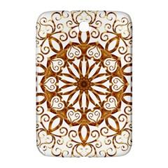 Golden Filigree Flake On White Samsung Galaxy Note 8 0 N5100 Hardshell Case  by Amaryn4rt