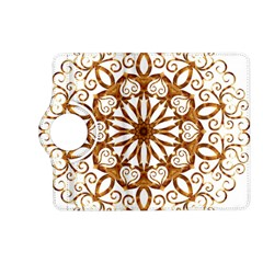 Golden Filigree Flake On White Kindle Fire Hd (2013) Flip 360 Case by Amaryn4rt