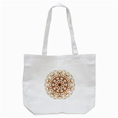 Golden Filigree Flake On White Tote Bag (white) by Amaryn4rt