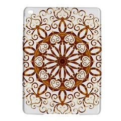 Golden Filigree Flake On White Ipad Air 2 Hardshell Cases by Amaryn4rt
