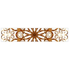 Golden Filigree Flake On White Flano Scarf (small) by Amaryn4rt