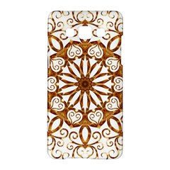 Golden Filigree Flake On White Samsung Galaxy A5 Hardshell Case  by Amaryn4rt