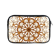 Golden Filigree Flake On White Apple Macbook Pro 13  Zipper Case by Amaryn4rt