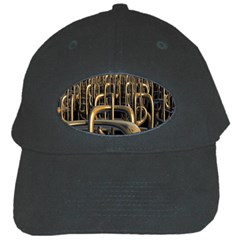 Fractal Image Of Copper Pipes Black Cap by Amaryn4rt