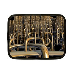 Fractal Image Of Copper Pipes Netbook Case (small)  by Amaryn4rt