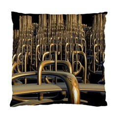 Fractal Image Of Copper Pipes Standard Cushion Case (one Side) by Amaryn4rt