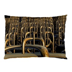 Fractal Image Of Copper Pipes Pillow Case by Amaryn4rt