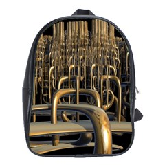 Fractal Image Of Copper Pipes School Bags(large)