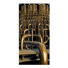 Fractal Image Of Copper Pipes Shower Curtain 36  X 72  (stall)  by Amaryn4rt