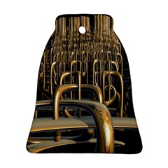 Fractal Image Of Copper Pipes Bell Ornament (two Sides) by Amaryn4rt