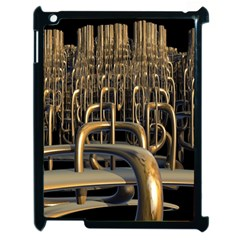 Fractal Image Of Copper Pipes Apple Ipad 2 Case (black)